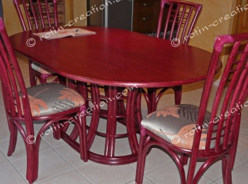 Table SAINT CYR ovale avec 1 allonge